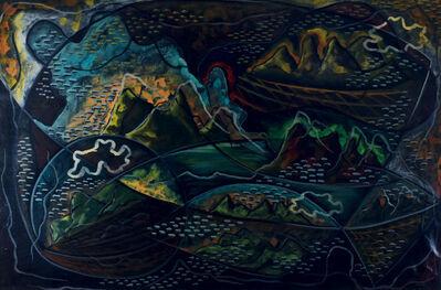 Pippo Oriani, 'AEROPITTURA. VOLO SUL GOLFO', 1934/36