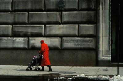 Frank Horvat, 'Red coat in front of Upper West Side building, NY, USA', 1984