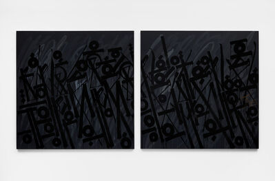 RETNA, 'Birds Of A Feather (Diptych)', 2012