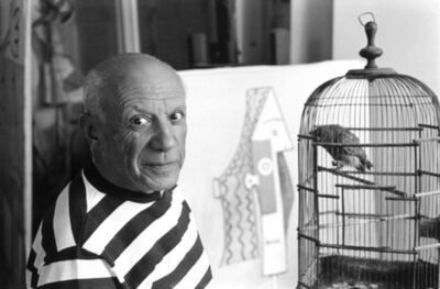 "René Burri, 'Pablo Picasso at Villa ""La Californie"", Cannes (France)', 1957"
