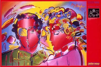 Peter Max, 'Zero in Love', 2000