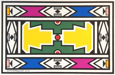 Esther Mahlangu, 'Ndebele Abstract - C000964', 2019