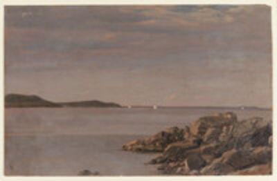 Frederic Edwin Church, 'Mt. Desert Island, Maine Coast', 1850