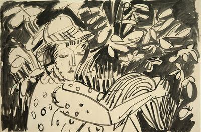 Ernst Ludwig Kirchner, 'Frau im Grünen', ca. 1912