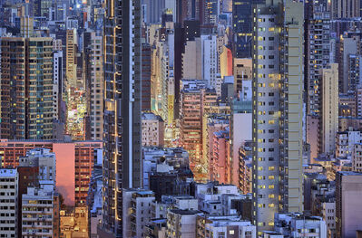 Romain Jacquet-Lagrèze, ''The Blue Moment #10' Hong Kong', 2016