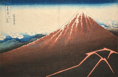 Katsushika Hokusai, 'Thunderstorm Beneath the Summit', ca. 1832