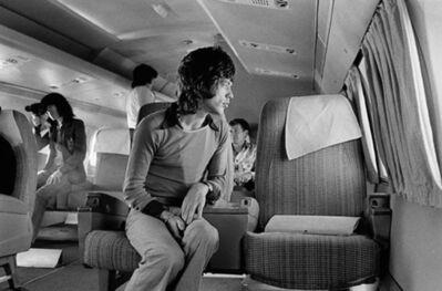 Jim Marshall, 'Mick Jagger on Airplane to San Diego', 1972