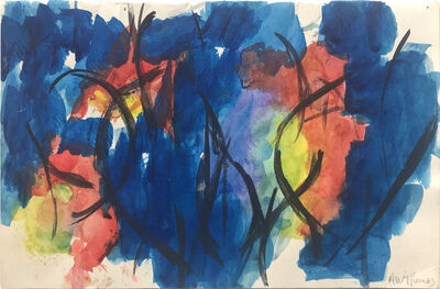Alma Thomas, 'Untitled (Blue, black, red, yellow green and violet)', Undated