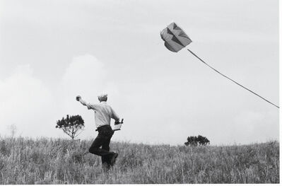 John Leongard, 'Henri Cartier-Bresson Flies a Kite, Provence', 1987