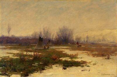 Joseph Henry Sharp, 'Winter's Coming On', 1904