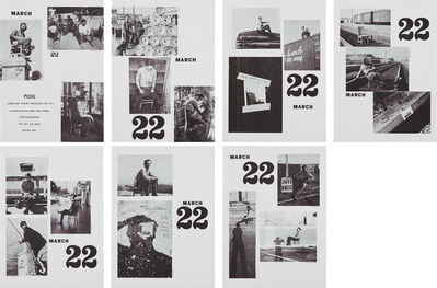 Allan Kaprow, 'Pose, March 22, 1969 Continued 1970, from Artists & Photographs 1969–70', 1970