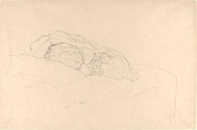 Gustav Klimt, 'Curled up Girl on Bed', 1916/1917