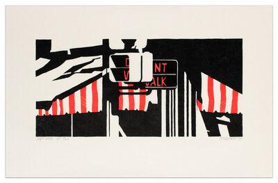 Robert Cottingham, 'DON'T WALK', 1991