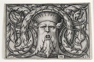Hans Sebald Beham, 'Panel with a Mascaron', 1543