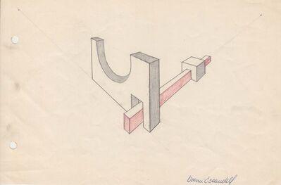 Noemi Escandell, 'Boceto para estructura Sector Circular', 1966
