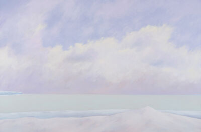Malcolm Rains, 'Study of Lake Ontario Near the Bluffs, Winter', 1986