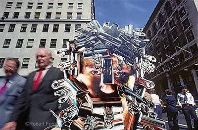 Robert Funk, 'Clip Head on Madison Avenue - Body Adornment - Street Art', 1975