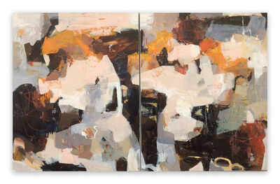 Linda Coppens, 'Poetry of life - diptych 2 (Abstract painting)', 2020