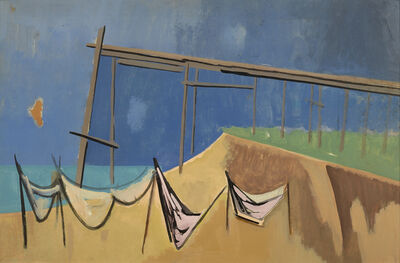 Herman Maril, 'Pier and Nets: a double-sided work'