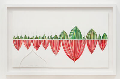 Danica Phelps, 'Red and Green Stripe Panel: Beach Cleaning Fundraiser in CA & India', 2018