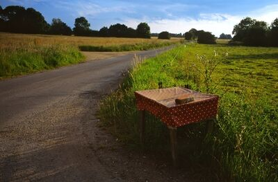 Justin Partyka, 'Table and Road, Mellis Common, Suffolk', 2014