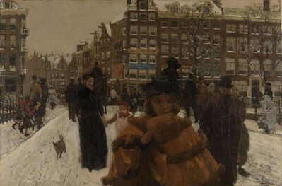 George Hendrik Breitner, 'The Singel Bridge at the Paleisstraat in Amsterdam', 1896-1898