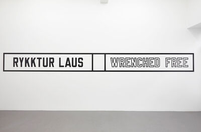 Lawrence Weiner, 'Wrenched free', 2014