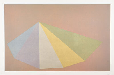 Sol LeWitt, 'Plate # 3 from Pyramids', 1987