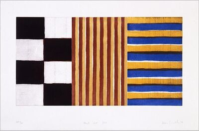 Sean Scully, 'Black Red Blue', 1994
