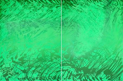 Xiao Bo, 'Sketches 2017 – Green 19', 2017