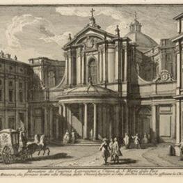 Giuseppe Vasi, 'Monastero dei Canonici Lateranensi, e Chiesa di S. Maria della Pace', 1747-1801