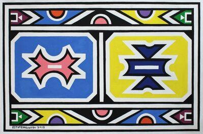 Esther Mahlangu, 'Ndebele Abstract - C000990', 2019