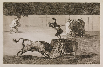 Francisco de Goya, 'Another madness of his in the same ring', 1815-1816