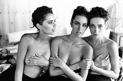 Arthur Elgort, 'Heather, Susan, and Irene, VOGUE Italia', 1991