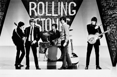 Terry O'Neill, 'The Rolling Stones during a rehersal for ABC's 'Thank Your Lucky Stars' TV pop music show, 1964.', 1964