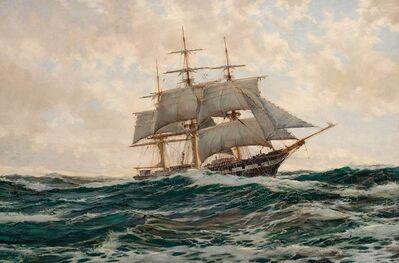 Montague Dawson, 'Silver Clouds: The J. N. Cushing of Newburyport, 671 Tons Built in 1853'