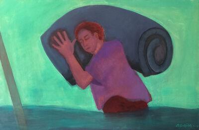 Beatriz González, 'Inundados: hombre con colchón', 2013