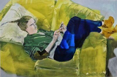 Miltos Manetas, 'Untitled (Catalina with iPhone - Bipolar)', 2013