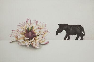 Soo Kang Kim, 'flower and  zebra', 2012