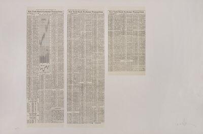 Bernar Venet, 'New York Stock Exchange Transaction', 1975