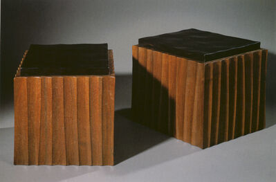 Anne and Vincent Corbiere, 'Pave Chocolat Stools'