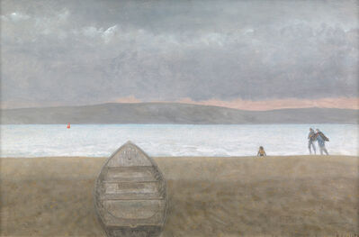 Richard Eurich, 'Figures in a hurry', 1982