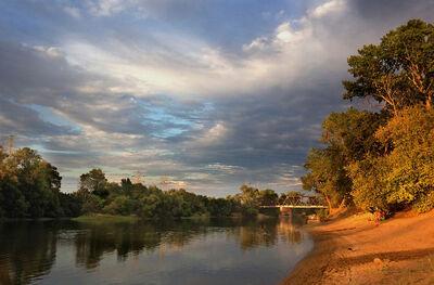 Anna Skacel, 'Sunset Over Railway Bridge, Sutter's Landing'