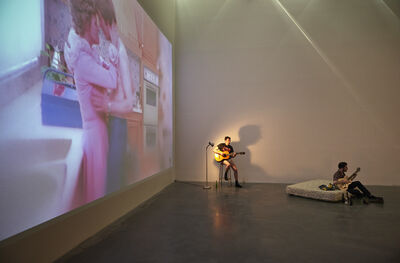 """Ragnar Kjartansson, 'Installation view, """"Ragnar Kjartansson: Me, My Mother, My Father, and I,"""" New Museum, 2014'"""