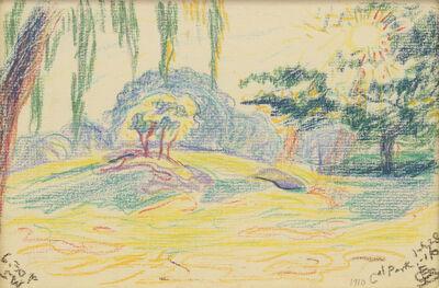 Oscar Bluemner, 'Park Scene', 1910