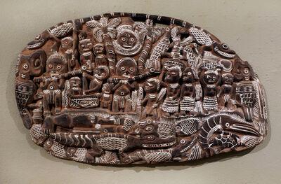 Papua New Guinea Tribal Art, 'Storyboard 1 ', 1960-1995