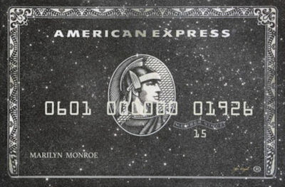 Kfir Moyal, 'Kfir Moyal, Black American Express - With Your Name ', 2019
