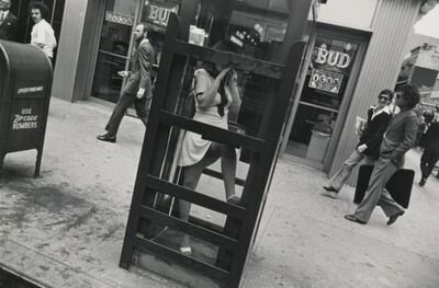Garry Winogrand, 'New York City (woman in phone booth, leg up) Garry Winogrand Portfolio, Hyperion Press, 1978', 1972