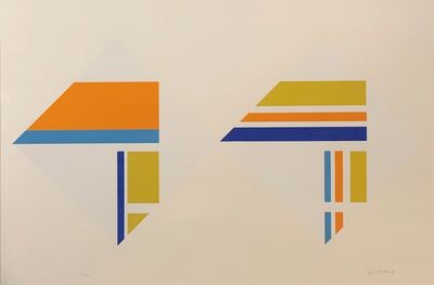 Ilya Bolotowsky, 'Untitled (in mustard, orange, and blue)', ca. 1970