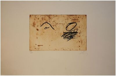 Antoni Tàpies, 'Deux O', 1984